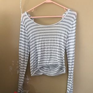 Cropped aerie wrap sweater